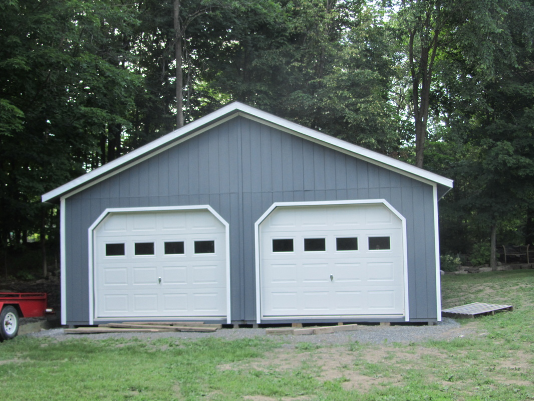 with amish above services car standard garages built garage footer builders our foundation